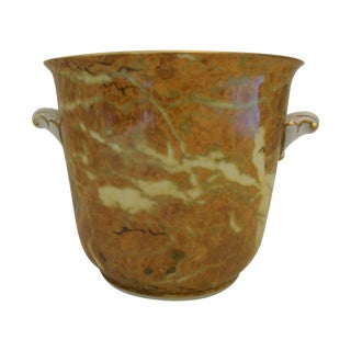 Trompe l'Oeil Onyx Planter or Cache Pot Urn