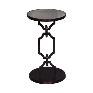 Aluminium Metal Side End Accent Table With Round Top