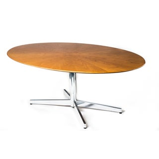 Florence Knoll Oval Rosewood Table