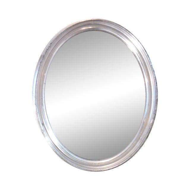 Oval Silverleaf Mirror - Image 1 of 4
