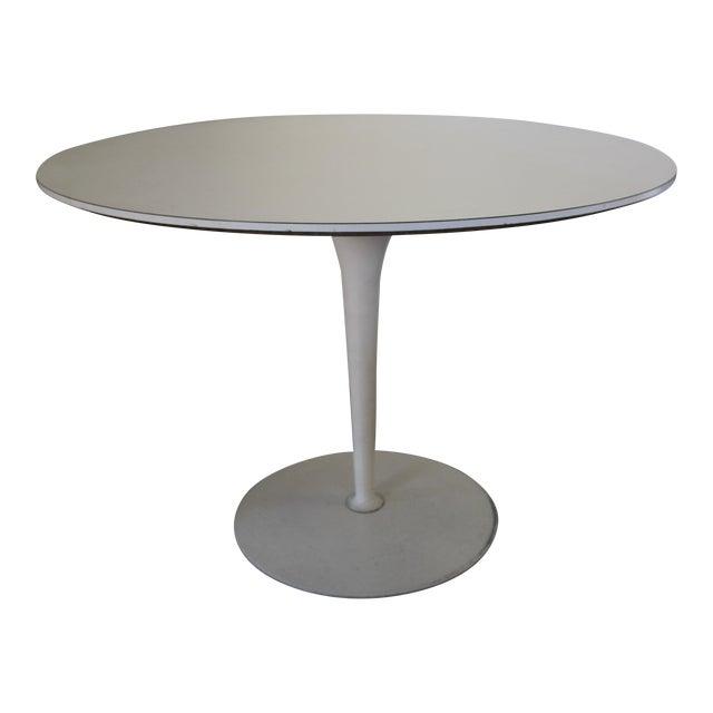 Vintage Saarinen Style White Tulip Dining Table - Image 1 of 11