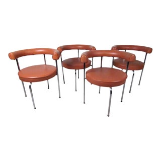Vintage Modern Le Corbusier Style Dining Chairs - Set of 4