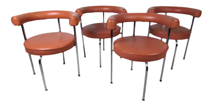 vintage modern le corbusier style dining chairs set of 4