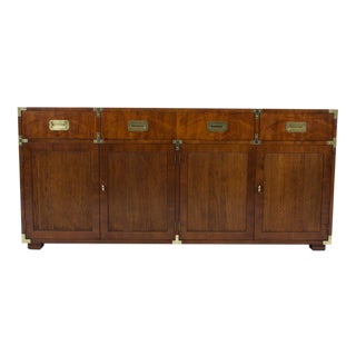 Large Henredon Campaign Style Sideboard or Cabinet
