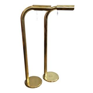 Jim Bindman Rainbow Lamp Co. Brass Floor Lamps - Pair