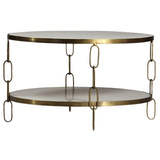 Marble & Brass Chain Frame Coffee Table