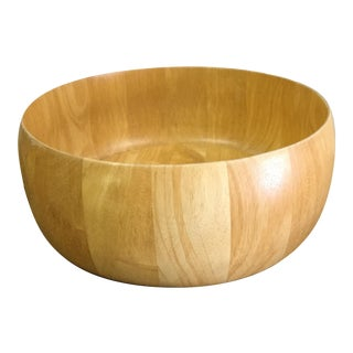 Large Light Wood Fruit Bowl