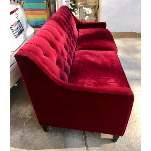 Hollywood Regency Style Velvet Sofa - Image 10 of 11