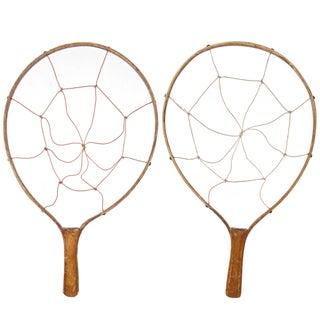 Vintage Wood Game Racquets - Pair