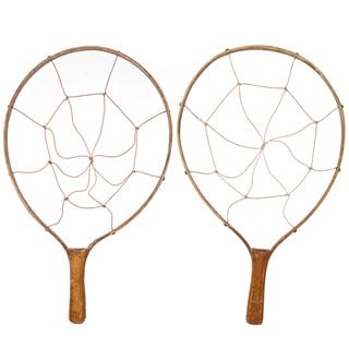 Vintage Wood Game Racquets - Pair