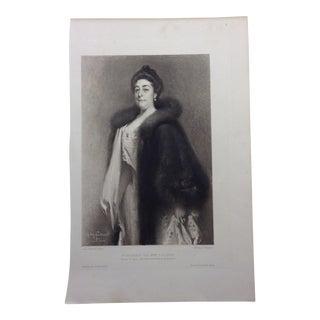 1901 Madame Loubet (Wife of French President) Print