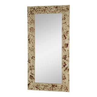 Red & White Custom Framed Mirror