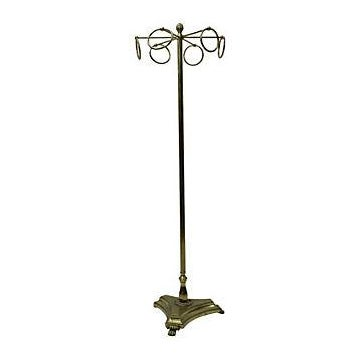 Vintage Brass Coat Rack - Image 1 of 3