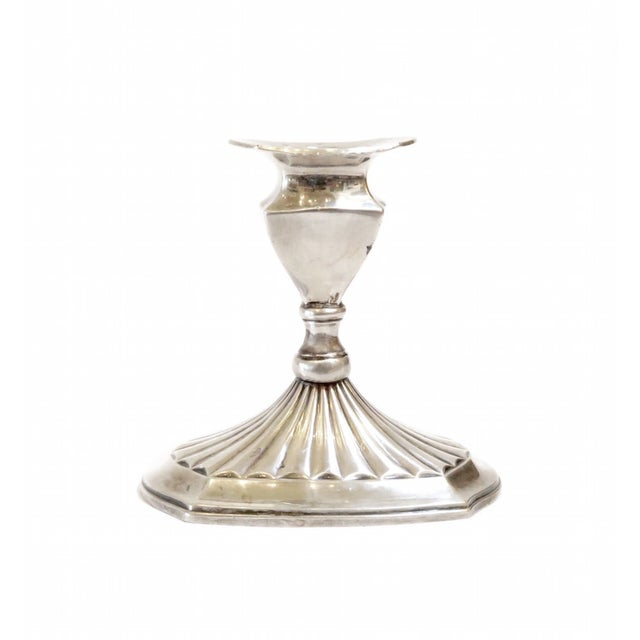 Image of Small Silver Candlestick Holder