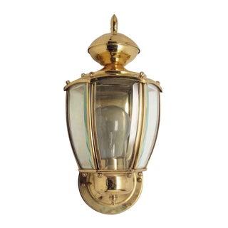 Brass Exterior Wall Lantern