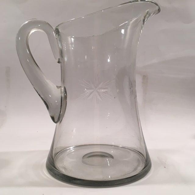 Image of Vintage Glass Starburst Pitcher