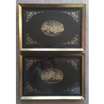 Image of Antique Chinese Lacquered Panels- a Pair