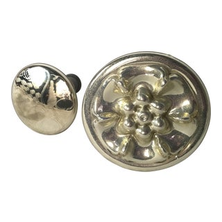 Two Mercury Glass Finials/Knobs