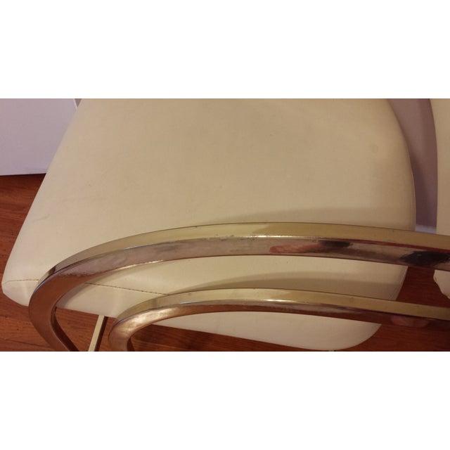 Vintage Brass Cantilever Bar Stools - Set of 3 - Image 7 of 8