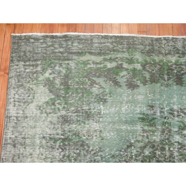 Turkish Medallion Overdye Rug - 6'4'' X 6'9'' - Image 4 of 5