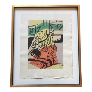 """Fernand Leger """"The Reading"""" Lithograph"""