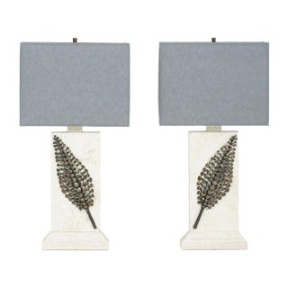 Pair of Limited-Edition, Custom Designed Lamps with Botanical Motif by Kerry MacBride