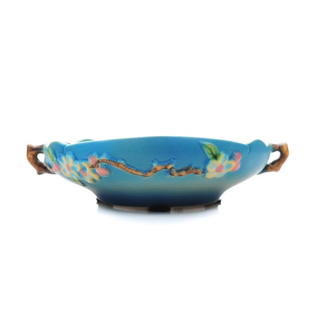 Image of Antique Roseville Pottery Blue Bowl