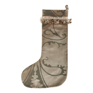 Stenciled Velvet Christmas Stocking