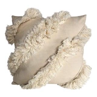 Kim Salmela Ivory Fringe Pillow