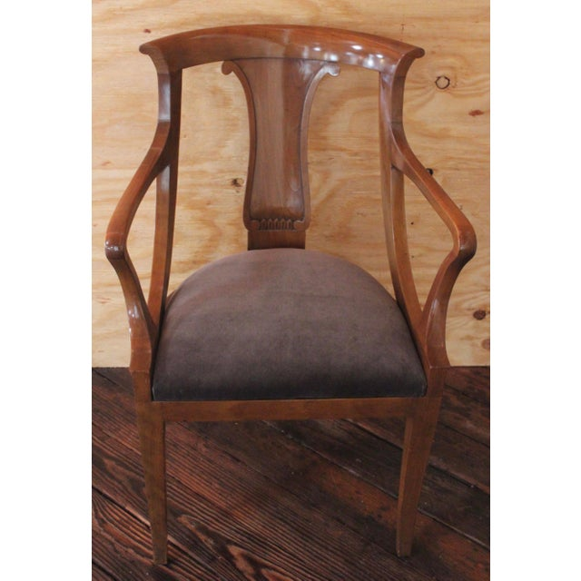 "Empire ""Chaise en Gondole"" Fruitwood Baker Dining Chairs - Set of Four - Image 2 of 8"