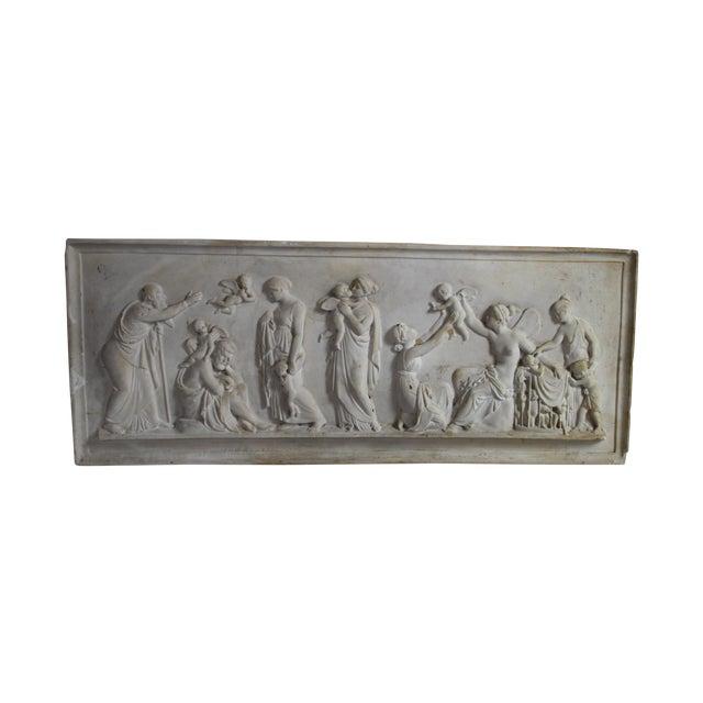 Neoclassical Plaster Relief Cherub Wall Art - Image 1 of 11