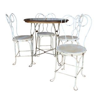 Vintage Ice Cream Parlor Dining Set