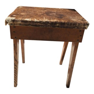 Antique Wooden Stool or Ottoman