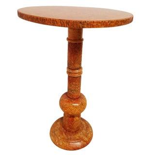 Mid-Century Orange Marble Martini Table