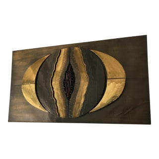 Vintage Brutalist Mixed Metal Wall Art