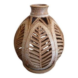 Mid-Century Stoneware Pottery Vase