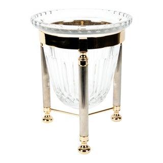 Mid-Century Cut Crystal Ice Bucket