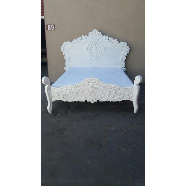 French baroque queen size bed frame chairish for French baroque bed