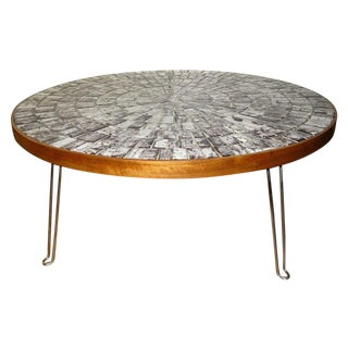 Round Mosaic Tile Coffee Table