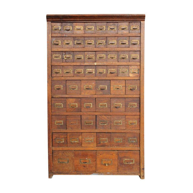Victorian Oak Multi-Drawer Cabinet - Image 1 of 6