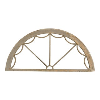 A demi lune shaped wooden arch with the original painted finish from England c. 1850.