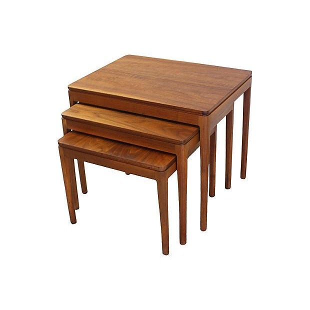 Kipp Stewart Walnut Nesting Tables - Set of 3 - Image 2 of 5