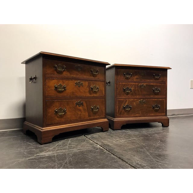 Mahogany Chippendale Bedside / Chairside Chests - Pair - Image 3 of 11