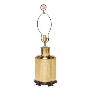 Table Lamp Brass with Asian Details