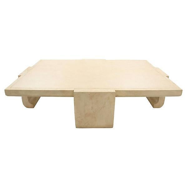 Baker Ming Leather Coffee Table - Image 3 of 7