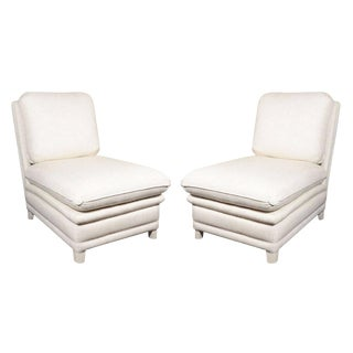 Pair of Upholstered Slipper Chairs by Billy Baldwin