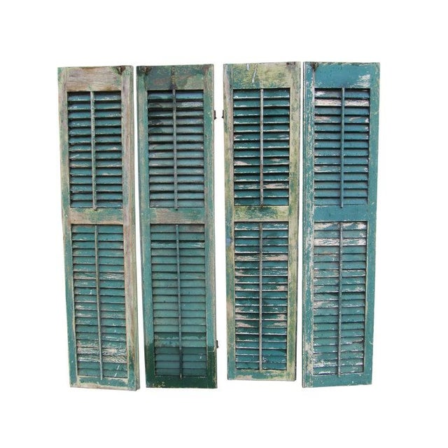 Rustic Cape May Victorian Shutters - A Pair - Image 3 of 5