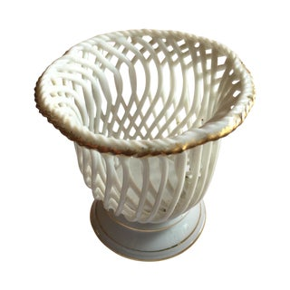 Porcelain Basket Without Flowers