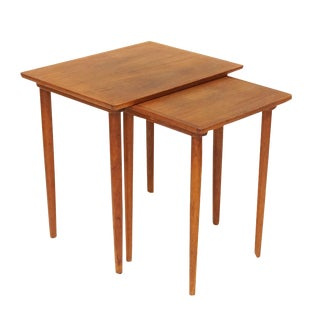 Bramin Danish Teak Nesting Tables - A Pair