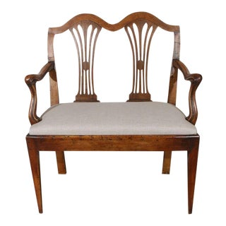 Pair of Tuscan Walnut Settees